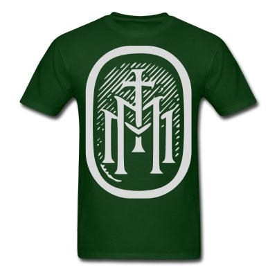 the majestys men tshirt mens tmm bold monogram front forest green