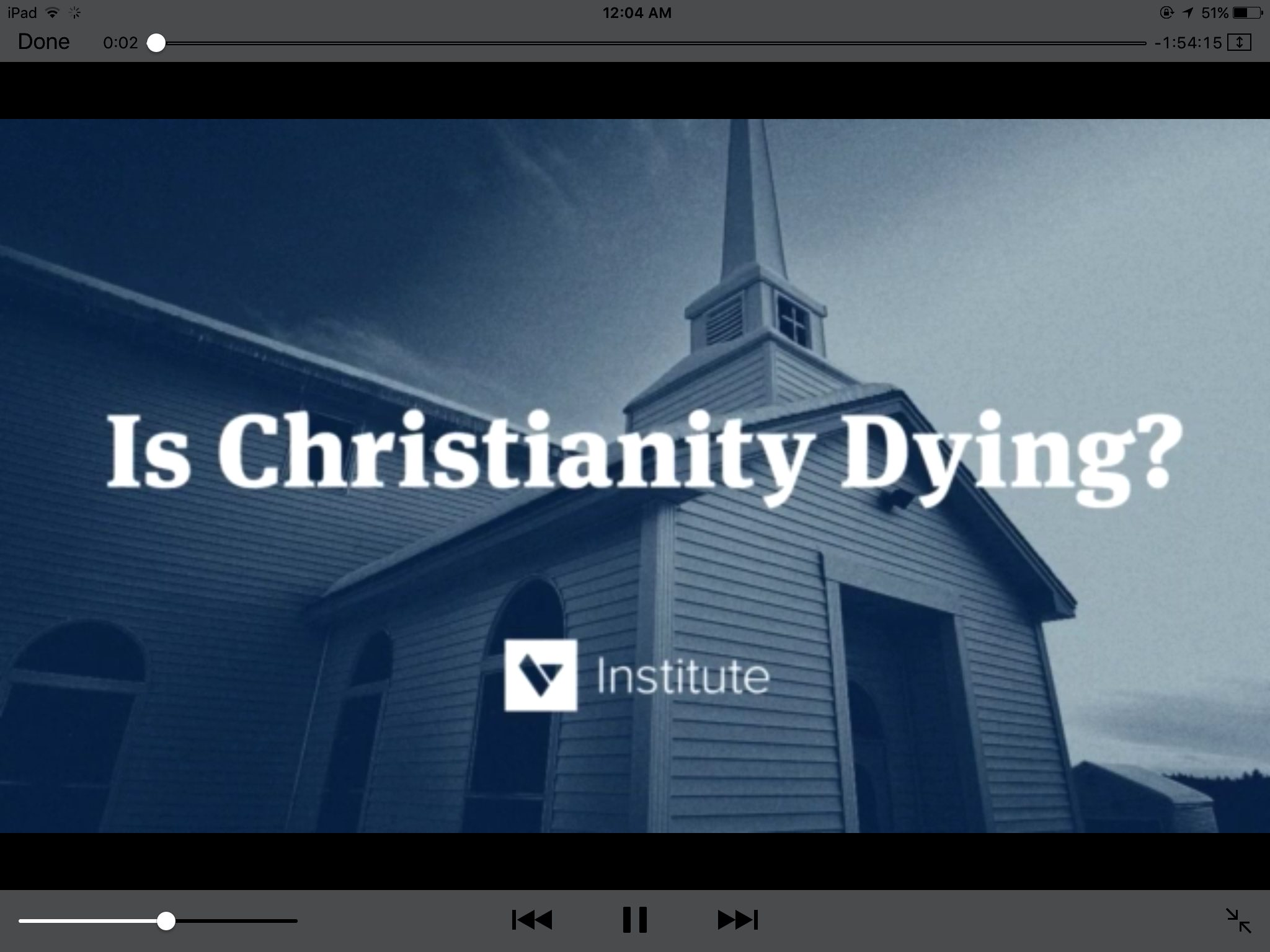 Christianity dying video teaching training