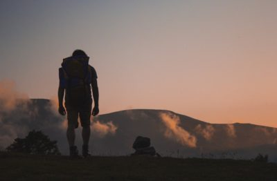 sin discourage fight battle perseverance guy hiking image